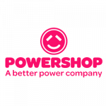 Powershop logo. Powershop is a supplier of energy products to ElectricityBrokers
